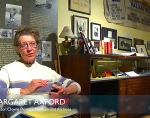 Margaret Axford, Curator of the Cloyne Pioneer Museum and Archives.