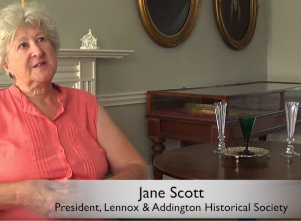 Lennox and Addington Historical Society President, Jane Scott