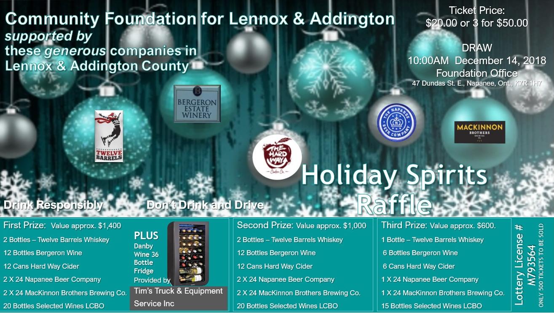 Holiday_Raffle at Community Foundation for Lennox & Addington