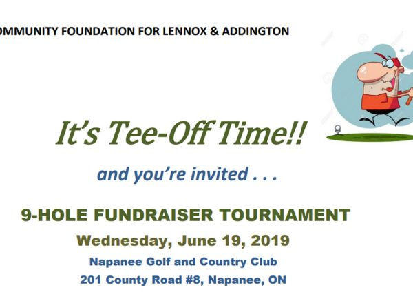 Community Foundation for Lennox & Addington Golf Tournament 2019.