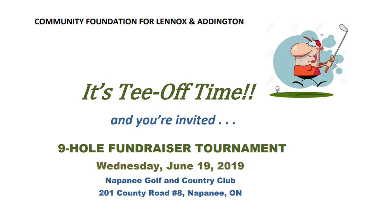 Community Foundation for Lennox & Addington Golf Tournament 2019.
